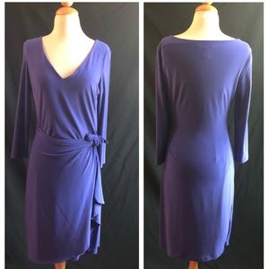 Deep Violet Ralph Lauren Wrap Dress Size 8